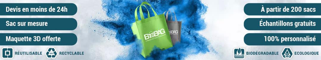 Sacs publicitaires Btobag bannière