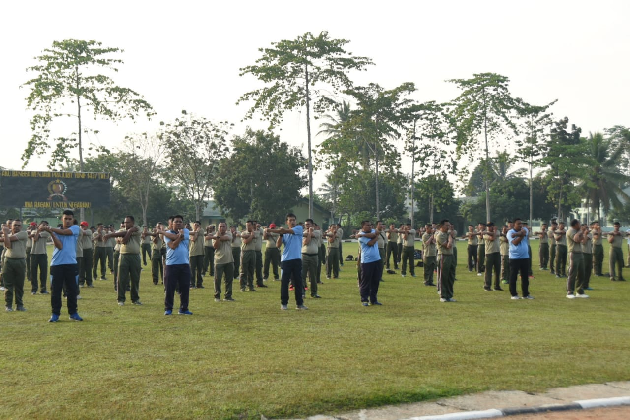 Dannud P. M. Bun Yamin hadiri giat olahraga bersama Trimatra TNI
