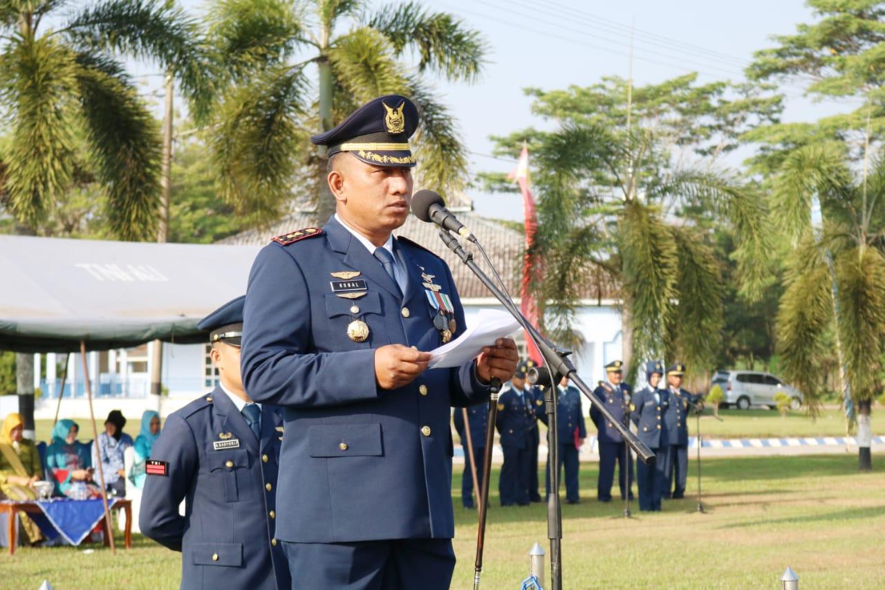 Upacara Memperingati Hari Bakti TNI AU ke-72 di Lanud Pangeran M. Bun Yamin