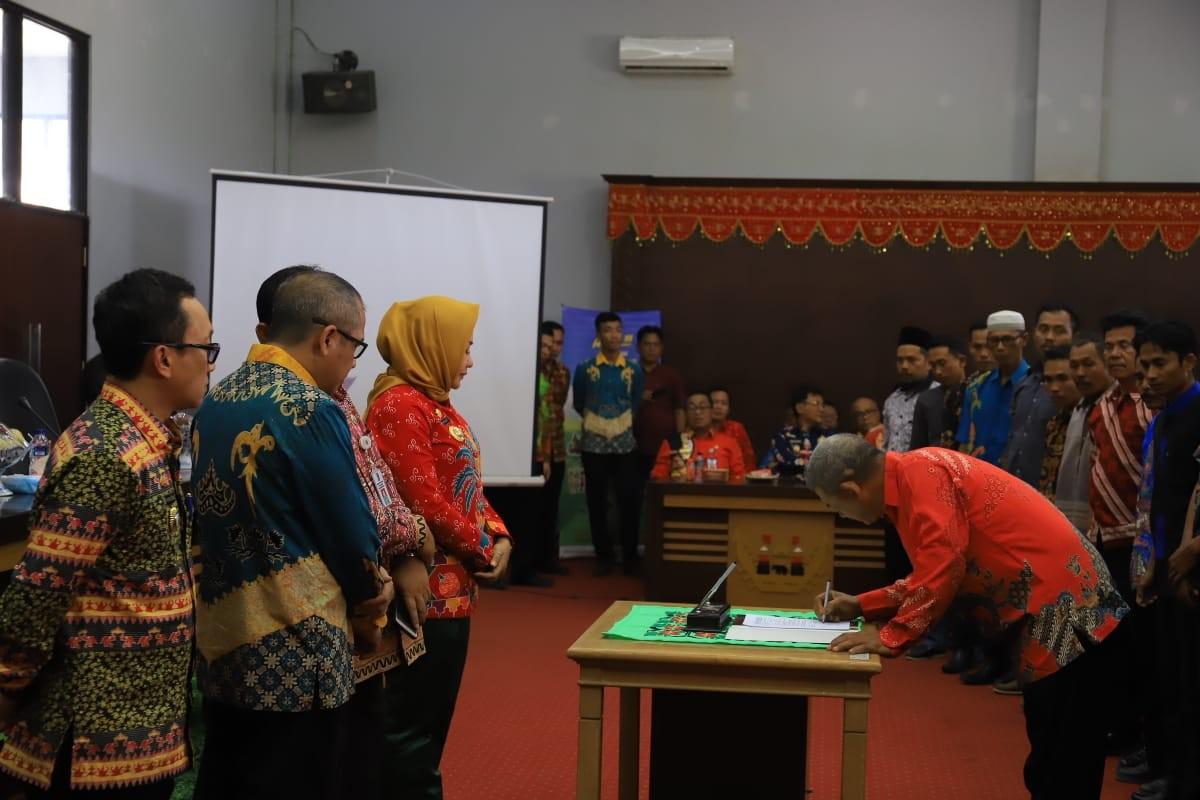 Penandatanganan Perjanjian Kerjasama Program Nasional PAMSIMAS III di Kabupaten Tulang Bawang
