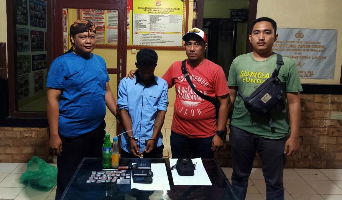 31 Bungkus Sabu Disita, Bandar Narkotika Ditangkap Polsek Dente Teladas