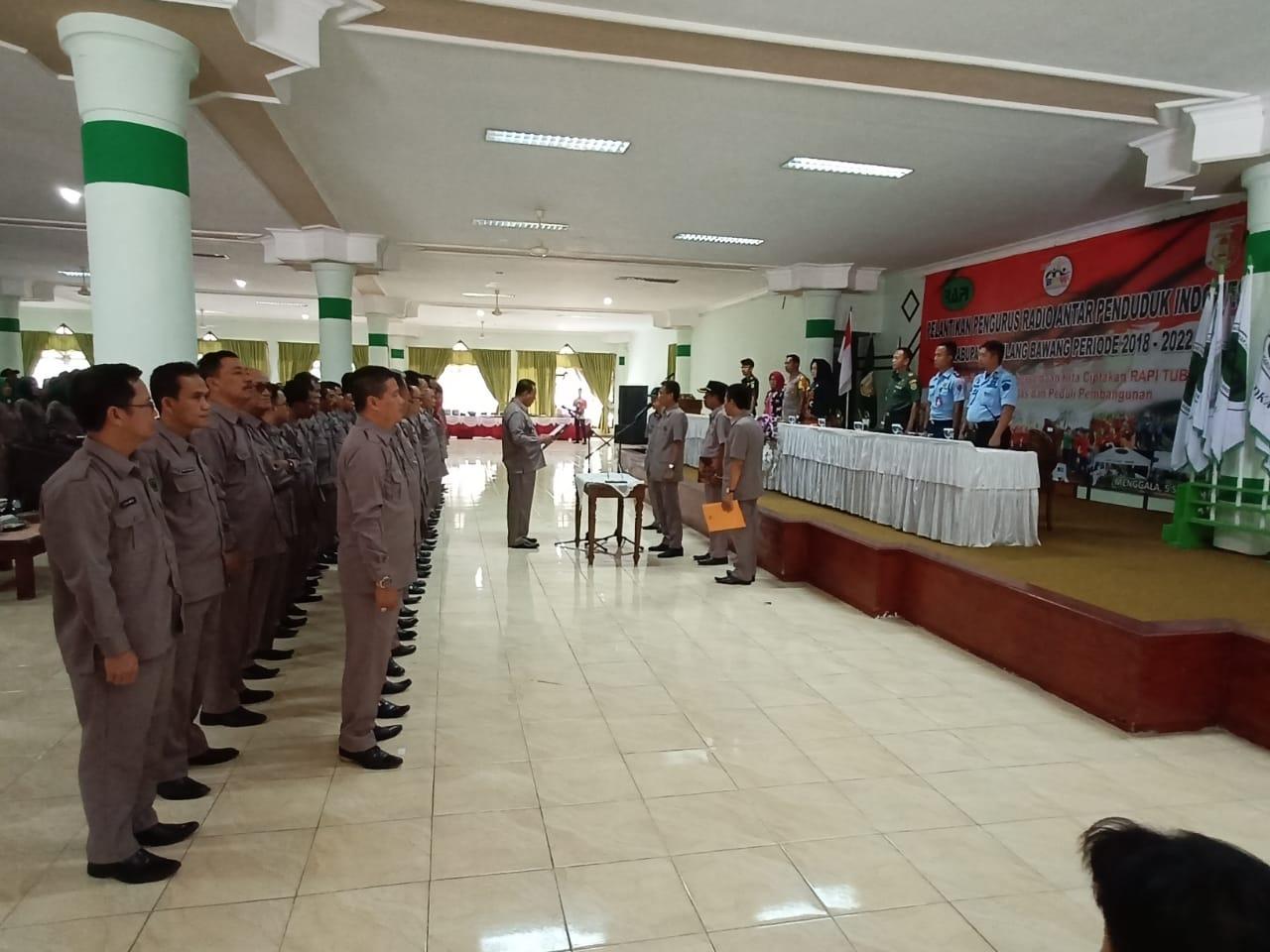 Kapen Lanud BNY Menghadiri Pelantikan Pengurus RAPI Tuba