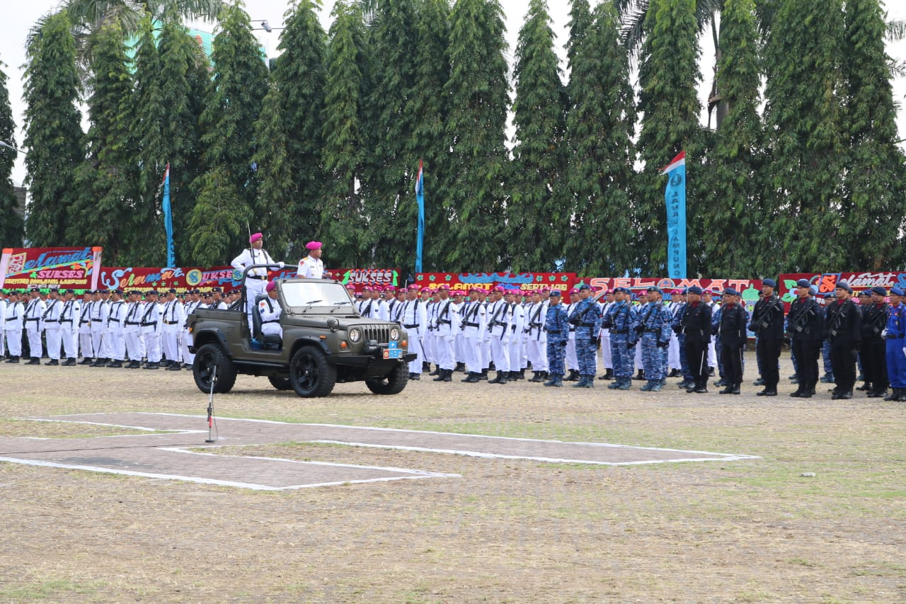 Danlanud dan Ketua PIA Ardhya Garini Cab.9/D.I Lanud Pangeran M. Bun Yamin Menghadiri Sertijab Danlanal Lampung