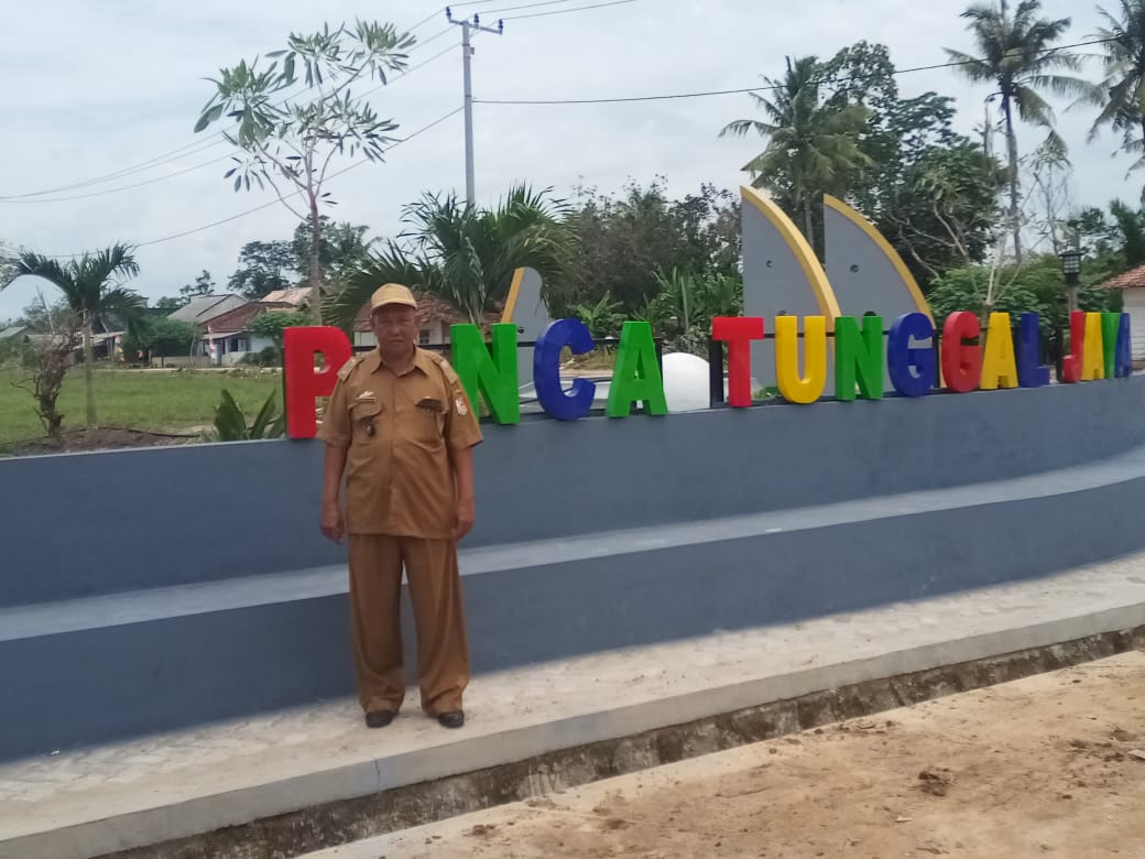 Toni, Kepala Kampung Panca Tunggal Jaya, Kecamatan Penawar Aji, Kabupaten Tulang Bawang.