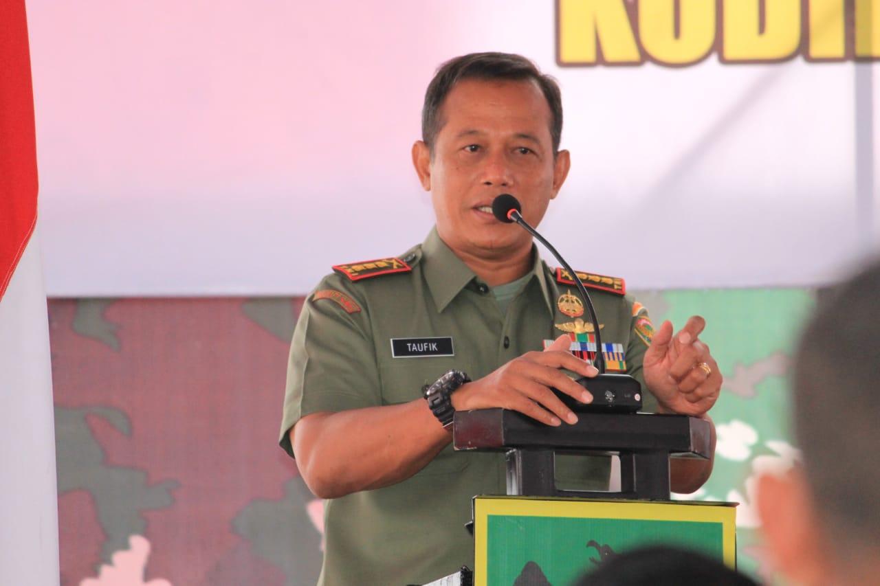 Komandan Korem 043/ Gatam Provinsi Lampung Kolonel Inf Taufiq Hanafi.