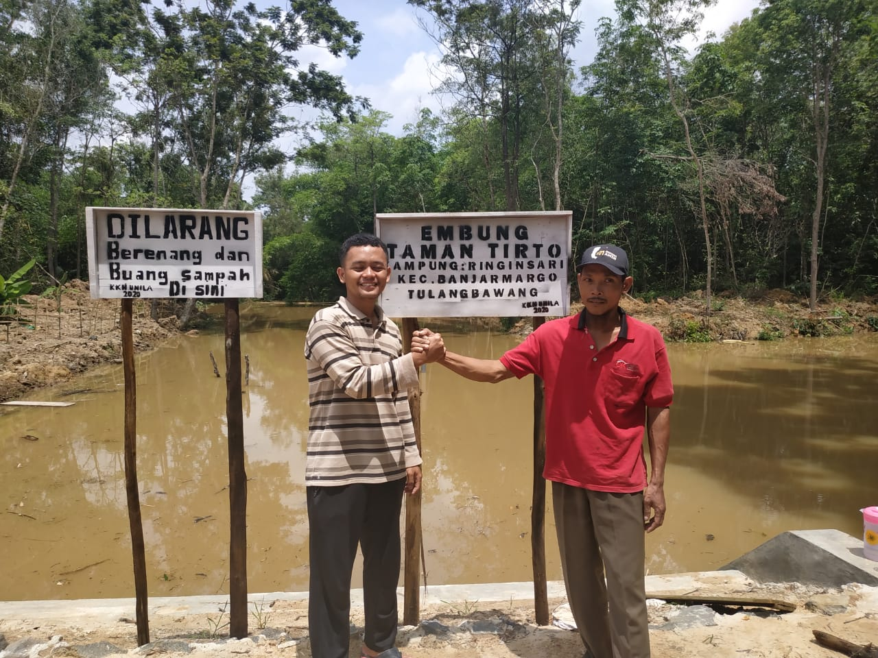 """Embung Kampung Salah Satu Hasil Pembangunan Kampung Ringin Sari"""