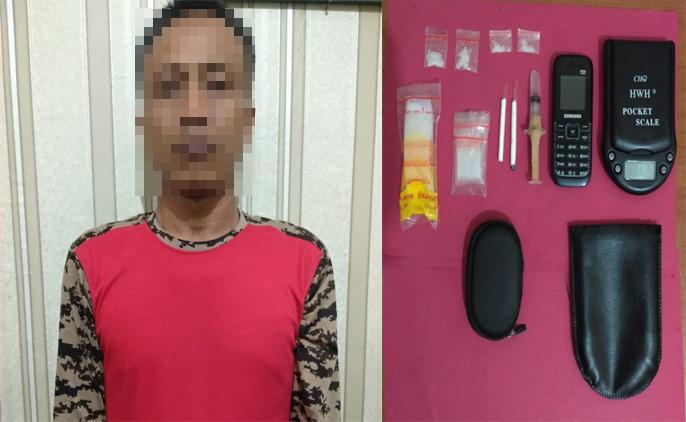 Bandar Narkoba FA als FR (38), berprofesi Pegawai Negeri Sipil (PNS) yang ditangkap polisi..