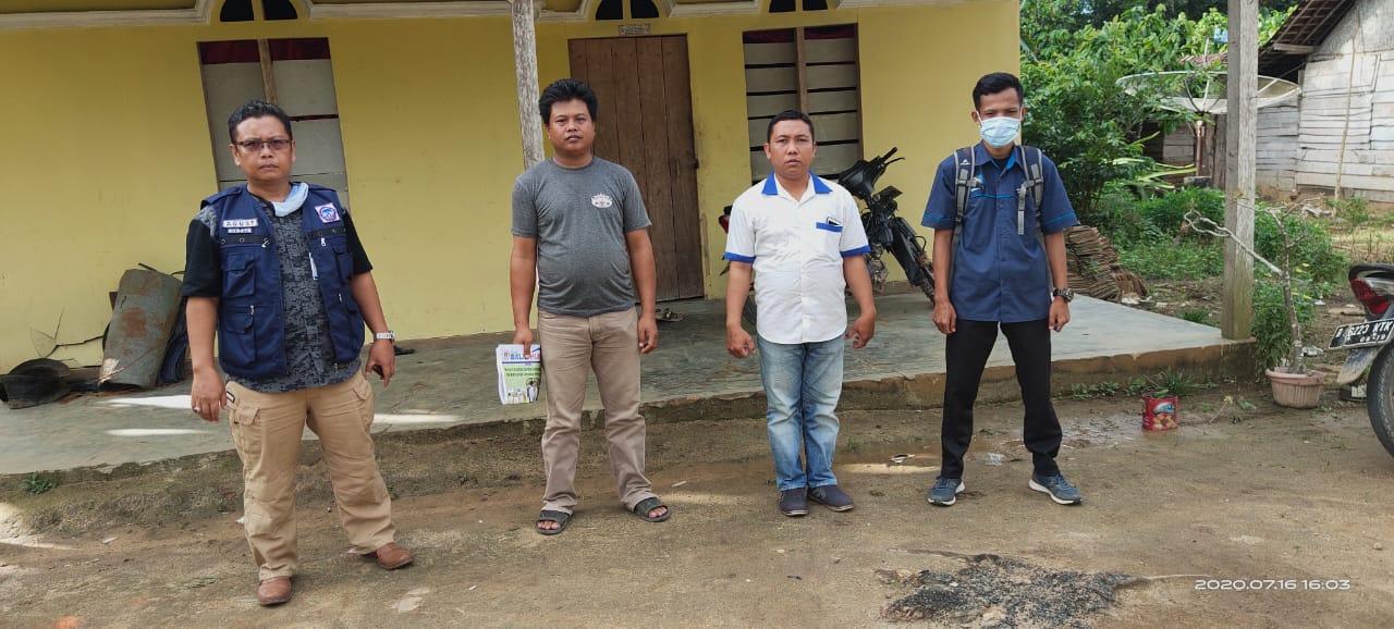 Tim LPA Tulang Bawang, Sakti Peksos Kemensos dan Sekretaris Kampung batal menemui korban di rumahnya.