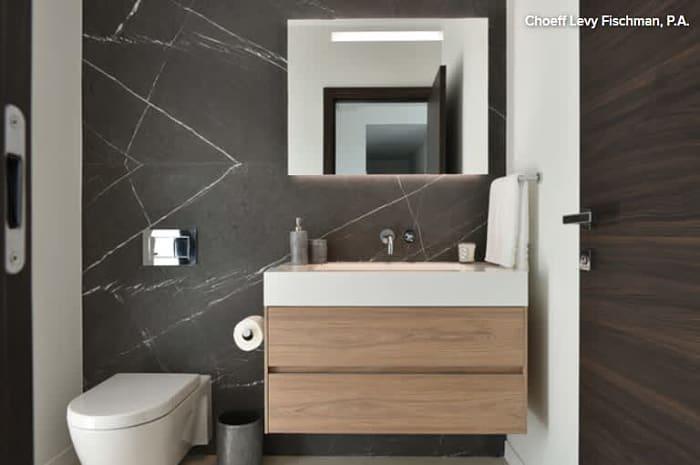 ระยะห่างสำคัญ ที่ช่วยคุณออกแบบห้องน้ำรับแขก Powder Room