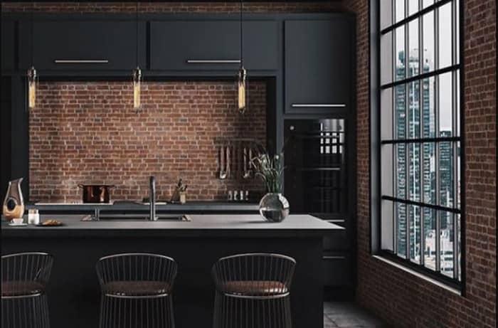 รวมแบบห้องครัว สไตล์ Industrial Loft ดิบ เท่ ใช้งานจริง