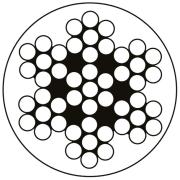 RFwireplastbelagtm/hvitplast.100mØ5mm