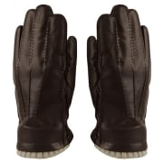 MJM Glove Perry Leather Wool/Cashmir Brown