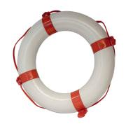 Redningsbøye65x40cm,hvitm/rødband
