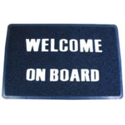 "Dørmatte ""Welcome On Board"""