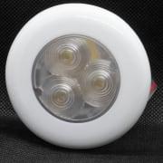 LED spotlight IP67, dagslys farge, hvit ring