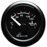 Oljetemperaturmåler Sort 0-120 grader  - Wema