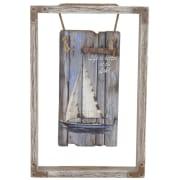 Bilde fyrtårn m/ramme, 30 x 20 cm, rekved