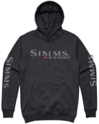 Simms Bass Logo Hoody Charcoal Heather