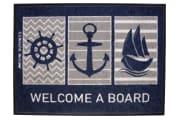 """Dørmatte """"Welcome A Board"""" 70x50cm"""