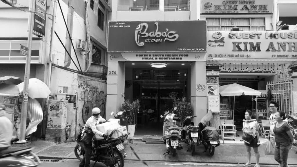 Babas's Kitchen location in Bui Vien street, Saigon, Vietnam