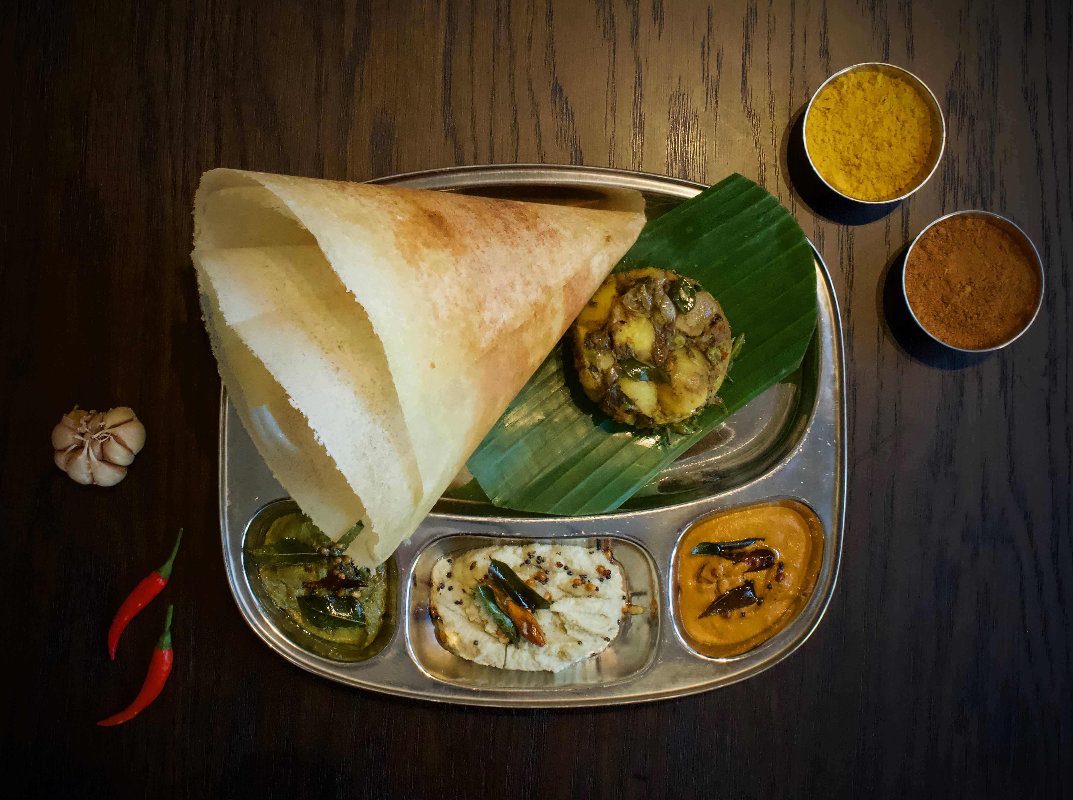 Dosas are very popular at all of our Baba's Kitchen Locations