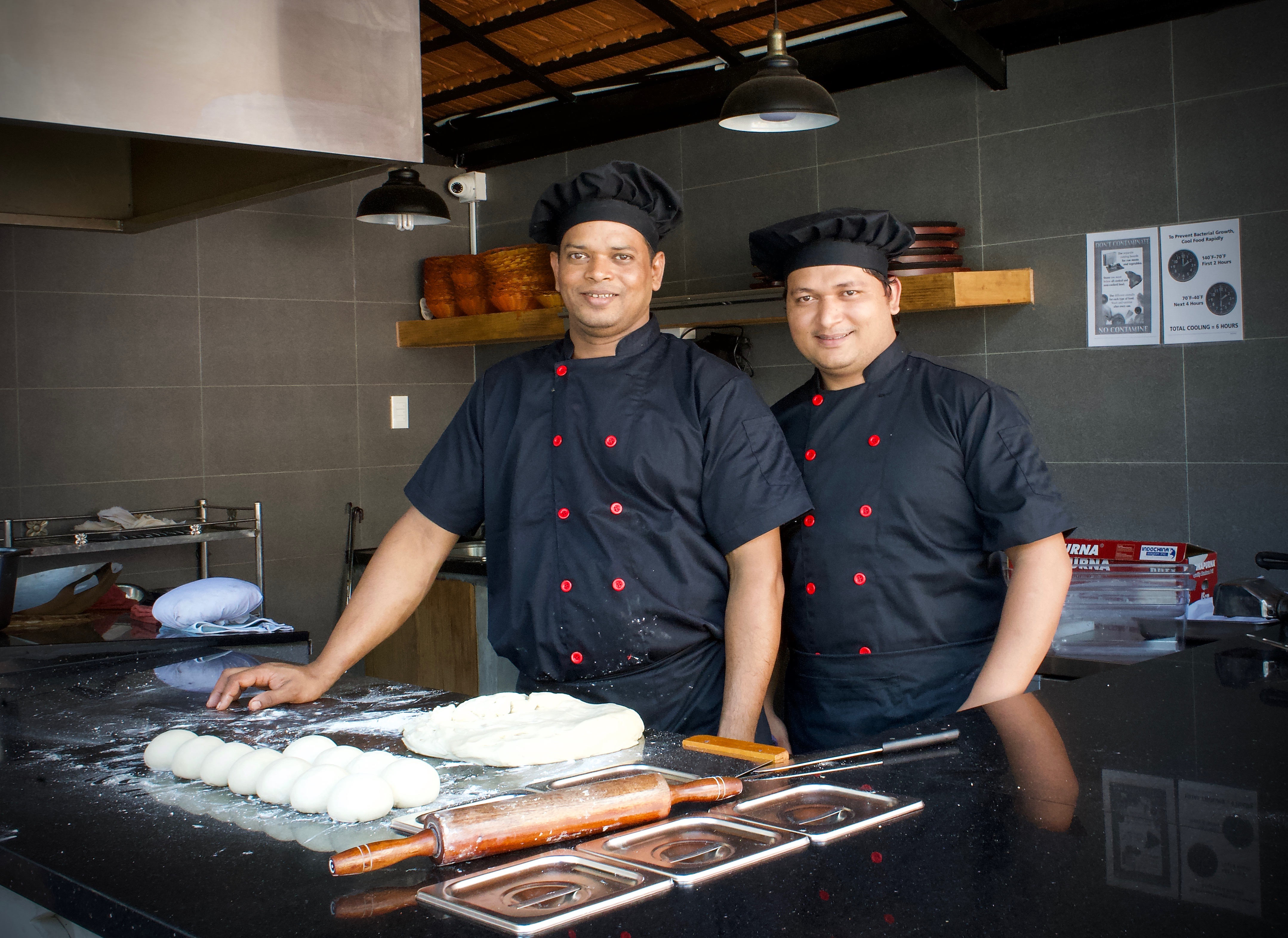 Babas's Kitchen's staff prepares both Indian and Sri Lankan cuisines in Thao Dien