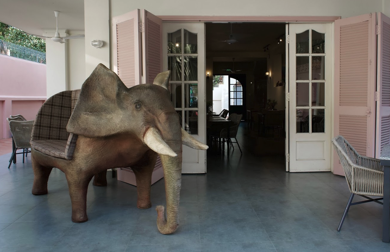 Elephant Garden shares the same location at Babas's Kitchen location in Thao Dien, Saigon, Vietnam