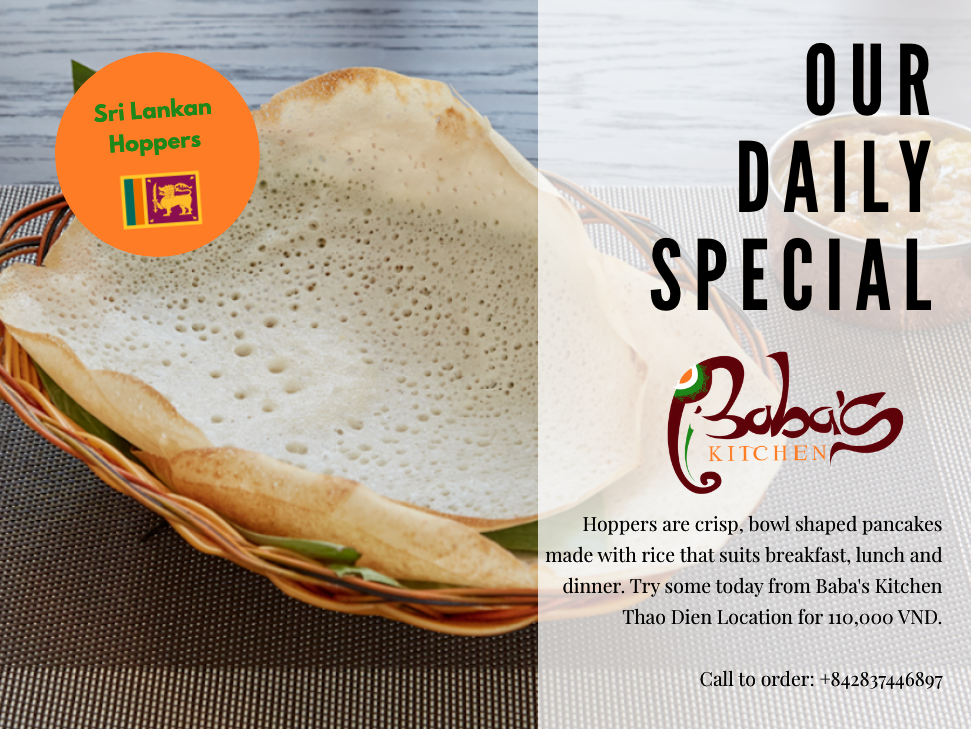 Hoppers at Sri Lankan Cuisine by Baba's Kitchen