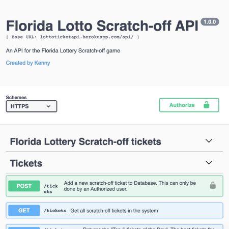 Lotto Scratch Tickets API