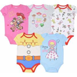 Disney Princess Baby Girls 5 Pack Bodysuits Belle Cinderella Snow White Aurora