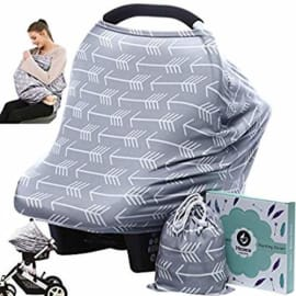 Yinuoday Baby Nursing Cover,Baby Car Seat Canopy,No Touch Sign Infant Stroller Cover Breastfeeding Cover,Baby Shower Gift