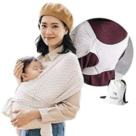 Hassle-Free Baby Wrap Sling Soft and Breathable Fabric Newborns Mint, L Infants to 45 lbs Toddlers Ultra-Lightweight Sensible Sleep Solution Konny Baby Carrier