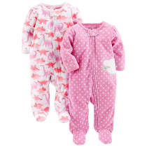 3c587ec0c9 Simple Joys by Carter s Baby Girls  2-Pack Fleece Footed Sleep and Play -  Dino Lambs · Amazon
