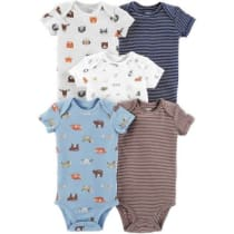 Baby Boy Carter s 5-pack Animal Graphics   Stripes Bodysuits 3994993f2
