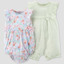 3972d2014a66 Baby Girls  2pk Romper Set - Just One You™ Made by Carter s® Mint Floral