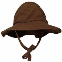 Lukeeno Organic Cotton Baby Boy Girl Sun Hat - Wide Brim - 3-12 Months -  Chocolate - Product Offer bb1517277767