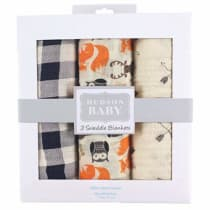 MULTI USE Perfect Babyshower Gift Gift Boxed Pack of 3 Unisex Designs Lifetime Guarantee Summer Blanket Super Soft Cotton Extra Large /•NEW CANADA RELEASE!/• DaisyGro/™ Premium Muslin Swaddle Blankets