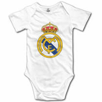 30a3c3ec5 GNJY Real Madrid Logo Funny Cute Novelty Infant Baby Bodysuit - 3 Months -  White