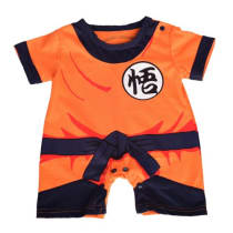45c3d9a4d87a Dressy Daisy Baby Dragon Ball Son Goku Costume Dress up Jumpsuit Romper  Outfit Infant Size 1-3 Months