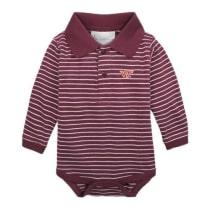 Virginia Tech Baby Long-Sleeved Striped Golf One-Piece – Campus Emporium 9708d9941e93
