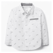 4dc3c50af5d Baby Boy Ivory Paper Planes Shirt by Gymboree
