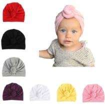 6a4ef1aaa2d Udobuy 7 Pcs Headband Updated Version Baby Hat- Newborn Baby Girl Soft Cute  Turban Knot Rabbit Hospital Hat (7 Pcs Set Knotted Hat) Multicolored ·  Amazon ...