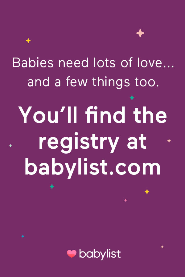 Visit Sara and Daniel Anglin's Baby Registry on Babylist. To raise a child it takes a village. Thanks for being part of ours!