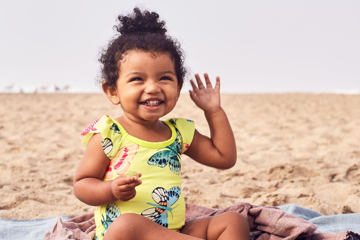 Carter/'s Infant//Toddler Girls Rash Guard Shirt W//Swim Suit Diaper Pink 9 Months