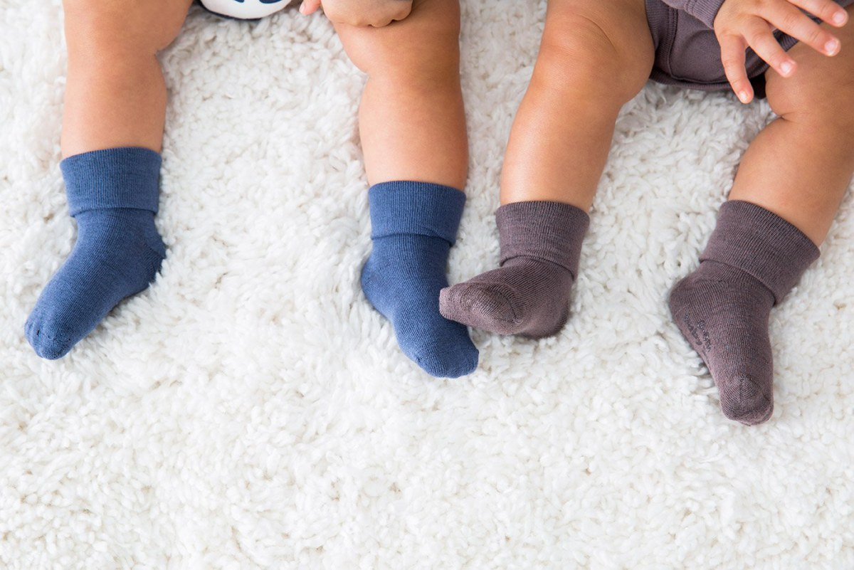 Baby Boys Non Slip Socks Three Pack Two Designs Ideal Soft Play Socks