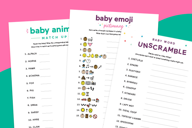 14 Baby Shower Games and Activities to Entertain Your Virtual  Guests.