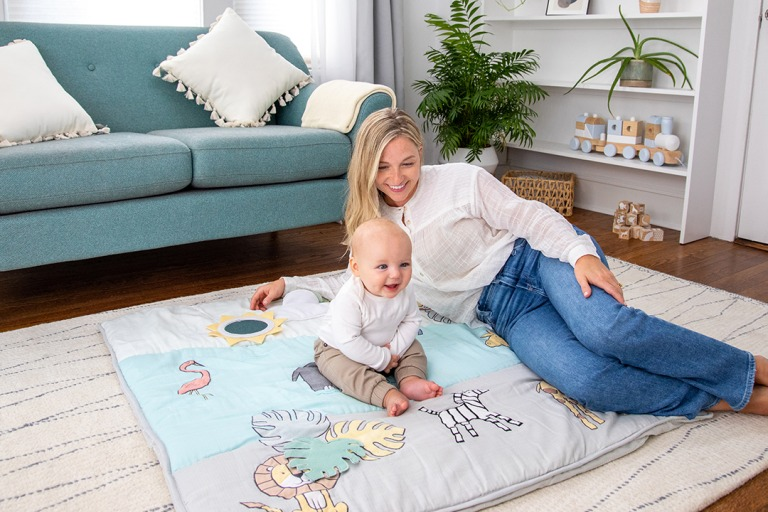 First Look: The New Oversized Baby Bonding Playmat from aden + anais