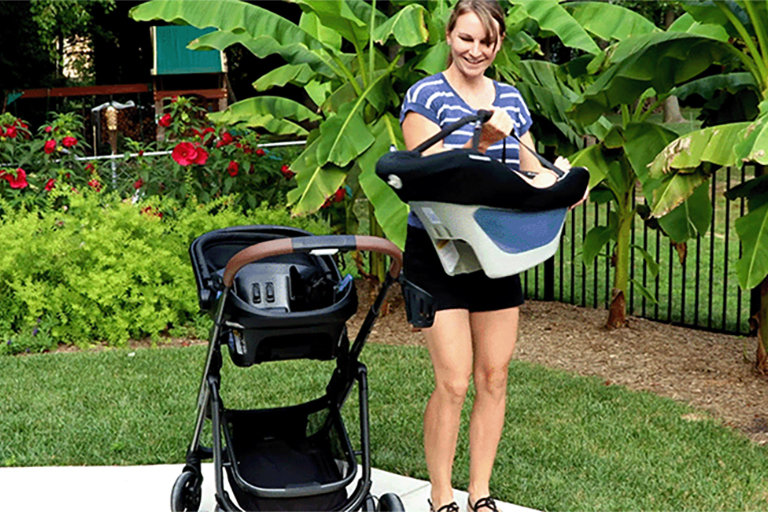 A Wearable Car Seat Meets Chic Stroller: The Tayla XP Travel System