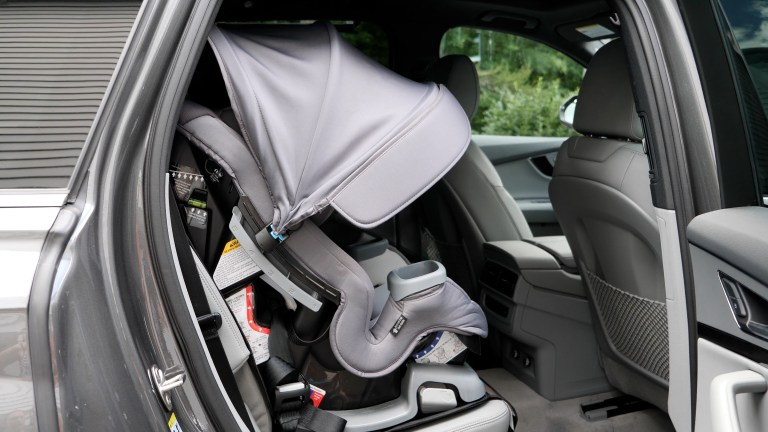 """Video Review: Baby Trend's """"Cover Me"""" 4-in-1 Convertible Car Seat"""