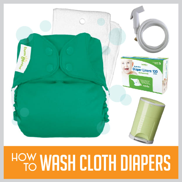 Interested in cloth diapers but worried about how to wash them? Here are the 3 easy steps for washing cloth diapers. We break down the process for you so you can figure out a routine that's right for your family.